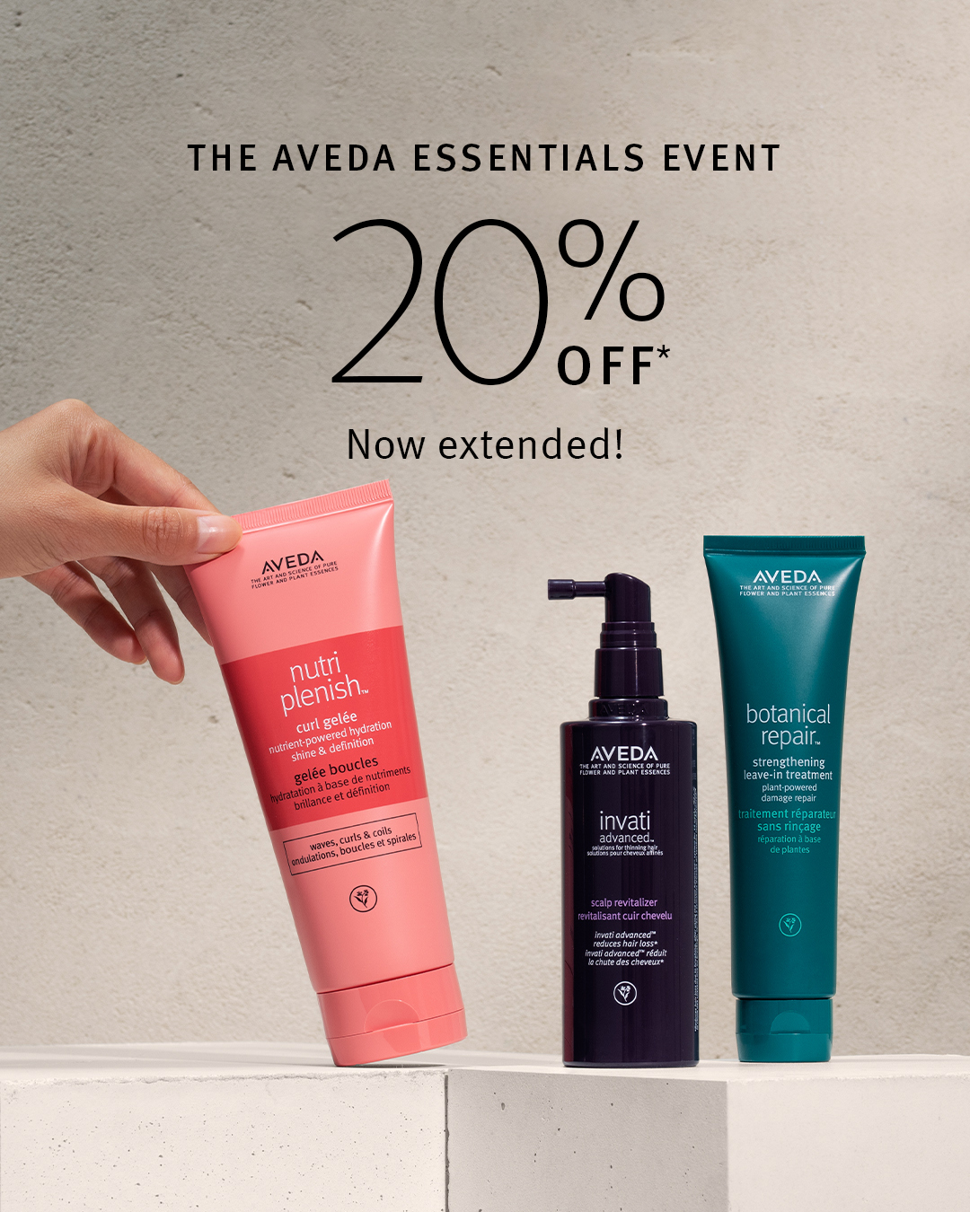 Aveda Essentials Event Extended